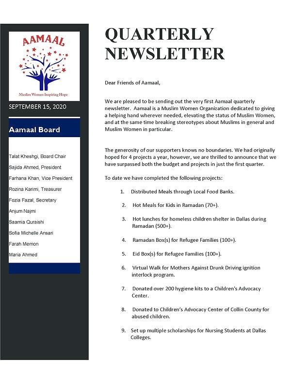 Quarterly Newsletter September 2020_Page