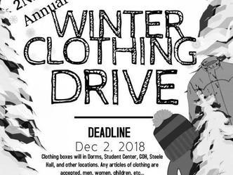 SGA hosts clothing drive