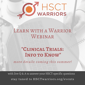 Promotion for August webinar focused on Clinical Trials