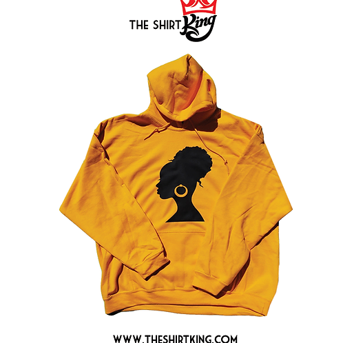 Black Sister Hoop and Bun Hoodie - (Golden Yellow Only)
