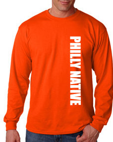 Mens Long Sleeve PHILLY NATIVE Tee