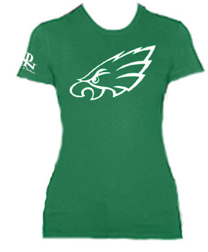 Ladies Short Sleeve Eagles Tee