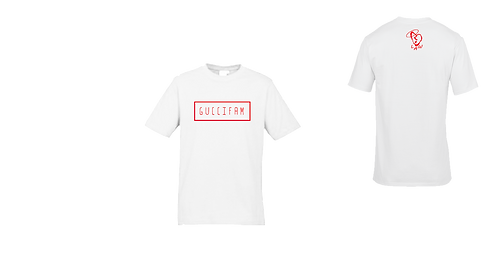 White/Red Simple Tee