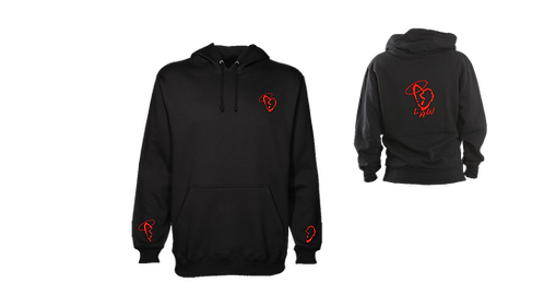 Black/Red HeartBreak Hoodie