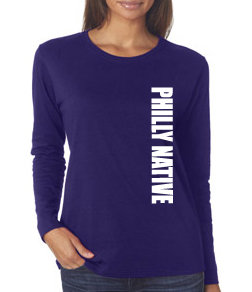Ladies Long Sleeve PHILLY NATIVE Tee
