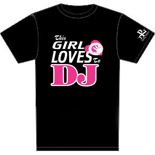Personalized Girl Luv 2 DJ Custom Short Sleeve Tee