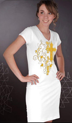 Ladies Woman of God Night Shirt