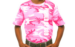 Girls Pink Camo Tees