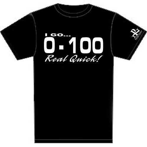 Personalized 0 to 100 Custom Short Sleeve DJ Tee
