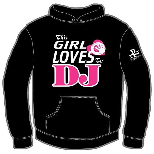 Personalized GIRL LUV 2 DJ Hoody