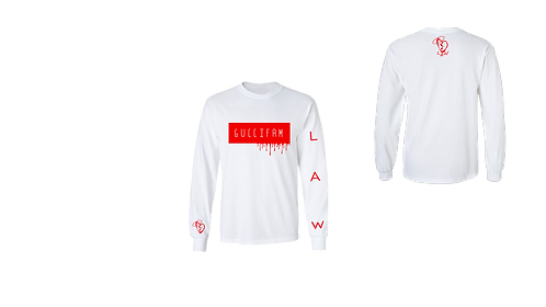 White/Red Drippy LongSleeve