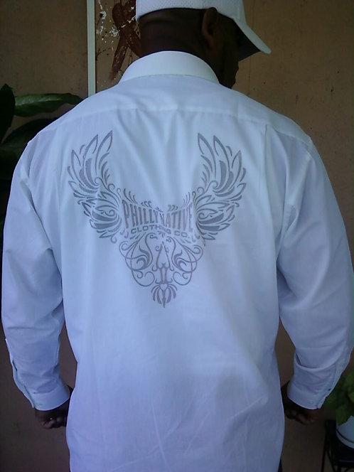 Mens Wing Design Dress Shirt