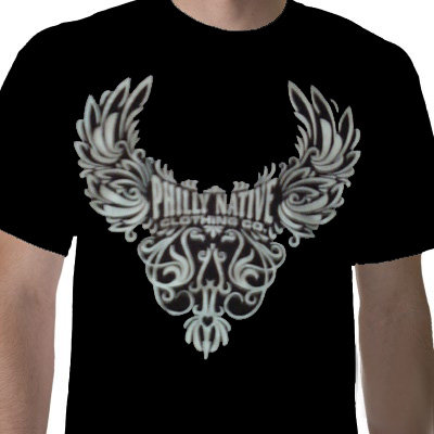 Mens Short Sleeve Wing Design Tee