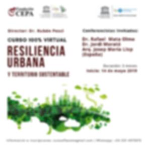 Flyer Resiliencia Urbana y Territorio Su