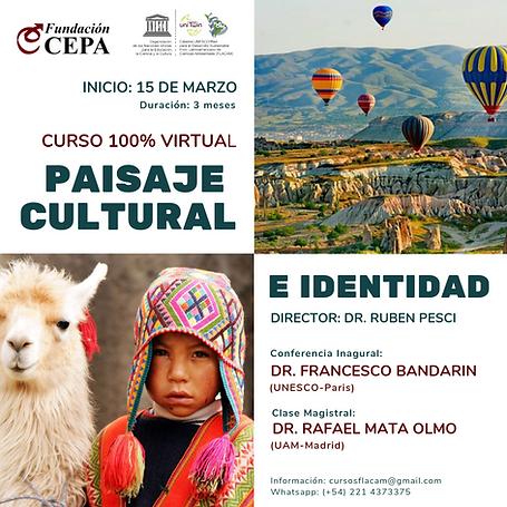 Flyer Curso Paisaje Cultural e Identidad