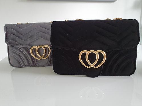 Velvet Small Heart Bag