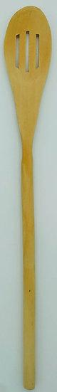 Лопатка деревянная с прорезями 30 см.