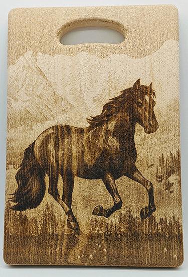 """Доска разделочная кедровая """"Лошадь"""""""