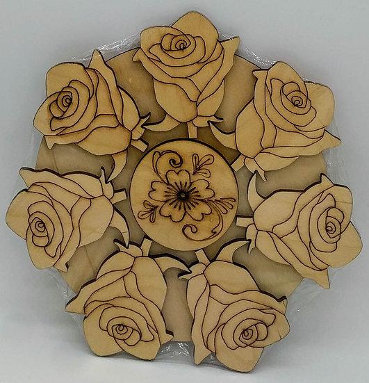 "Подставка деревянная ""Роза"""