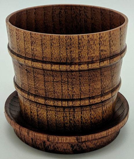 Чашка деревянная с крышкой-блюдцем