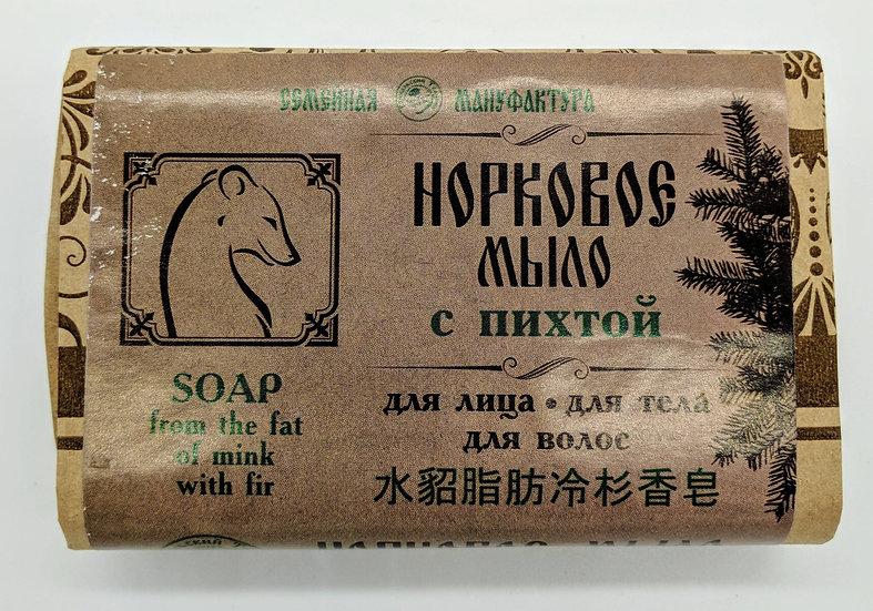 Мыло - шампунь «Норковое с пихтой»
