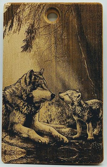 """Доска разделочная кедровая """"Волчица"""""""