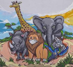 Afrika-Gemälde c