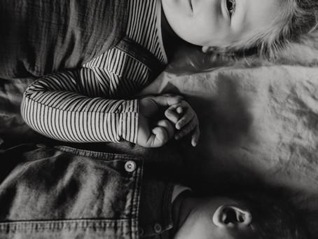 Newbornshoot met tweede kindje