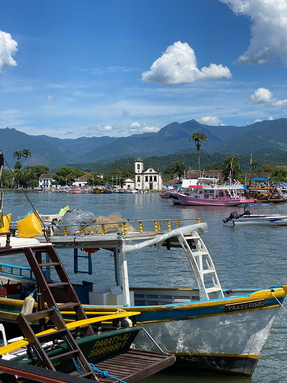 Paraty is all about enjoying the sunshine, the birds singing, the distant sounds of waves and hourly bells ringing from the church.