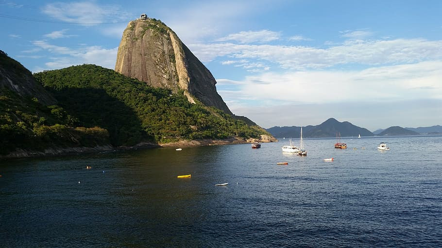 Overlooking Guanabara Bay, Urca is dominated by the iconic hump of the Sugarloaf Mountain.