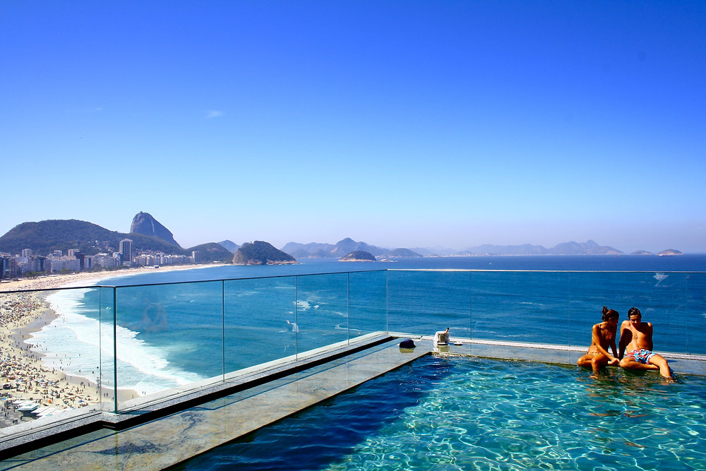 Copacabana beach views from a hotel