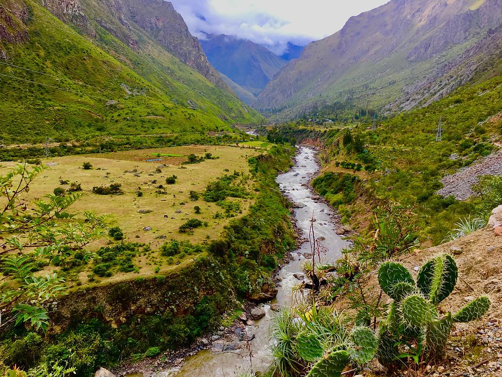 Ollaytantambo views are lush, green and beautiful.