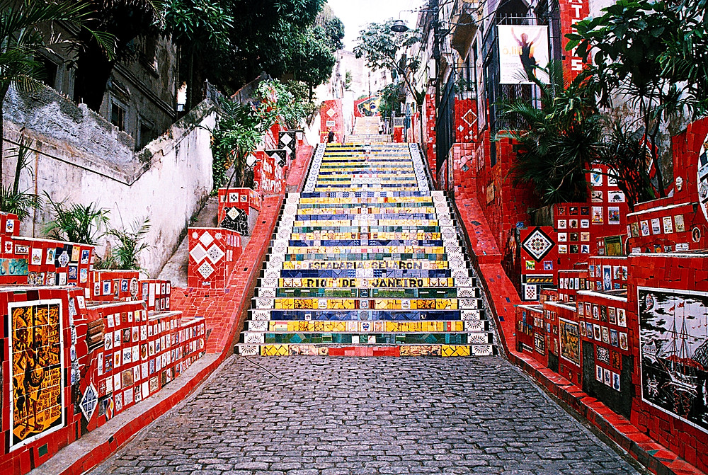 Today the world-famous candy-colored steps have become one of the most popular places to visit in Rio.