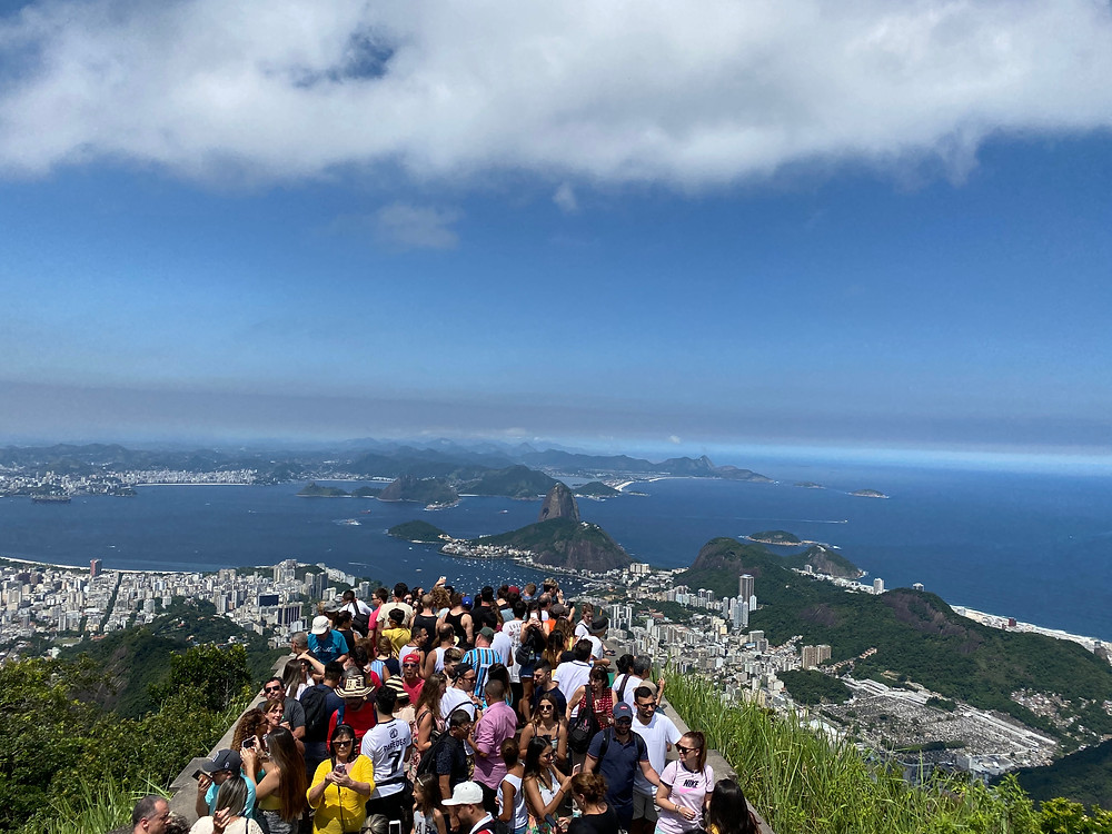 The view from the top of the Corcovado is simply indescribable (and incredibly crowded).