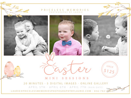 South New Jersey| Easter Mini Sessions