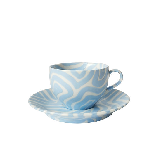 Baby Blue Teacup and Saucer