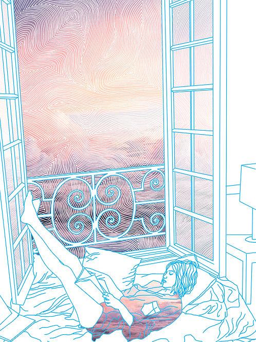 Solitude - Embossed Print