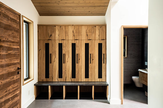 mudtroom, mudrroom lockers, mountain modern, id.3 interior design, interior design tahoe,