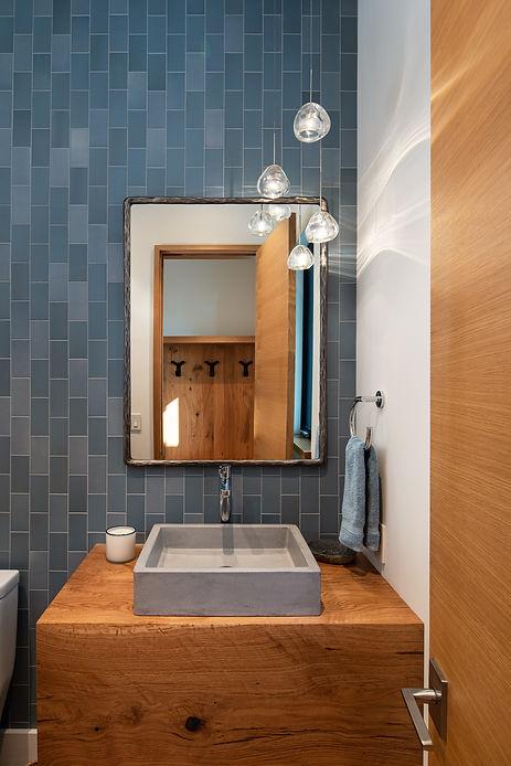 Heath Ceramics, Native Trails, powder room, mountain modern, id.3, Tahoe interior design, mountain modern