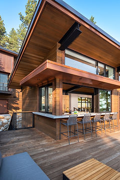 mountain modern, architrecture, Ward Young Architects, outdoor dining, Tahoe interior design, Tahoe