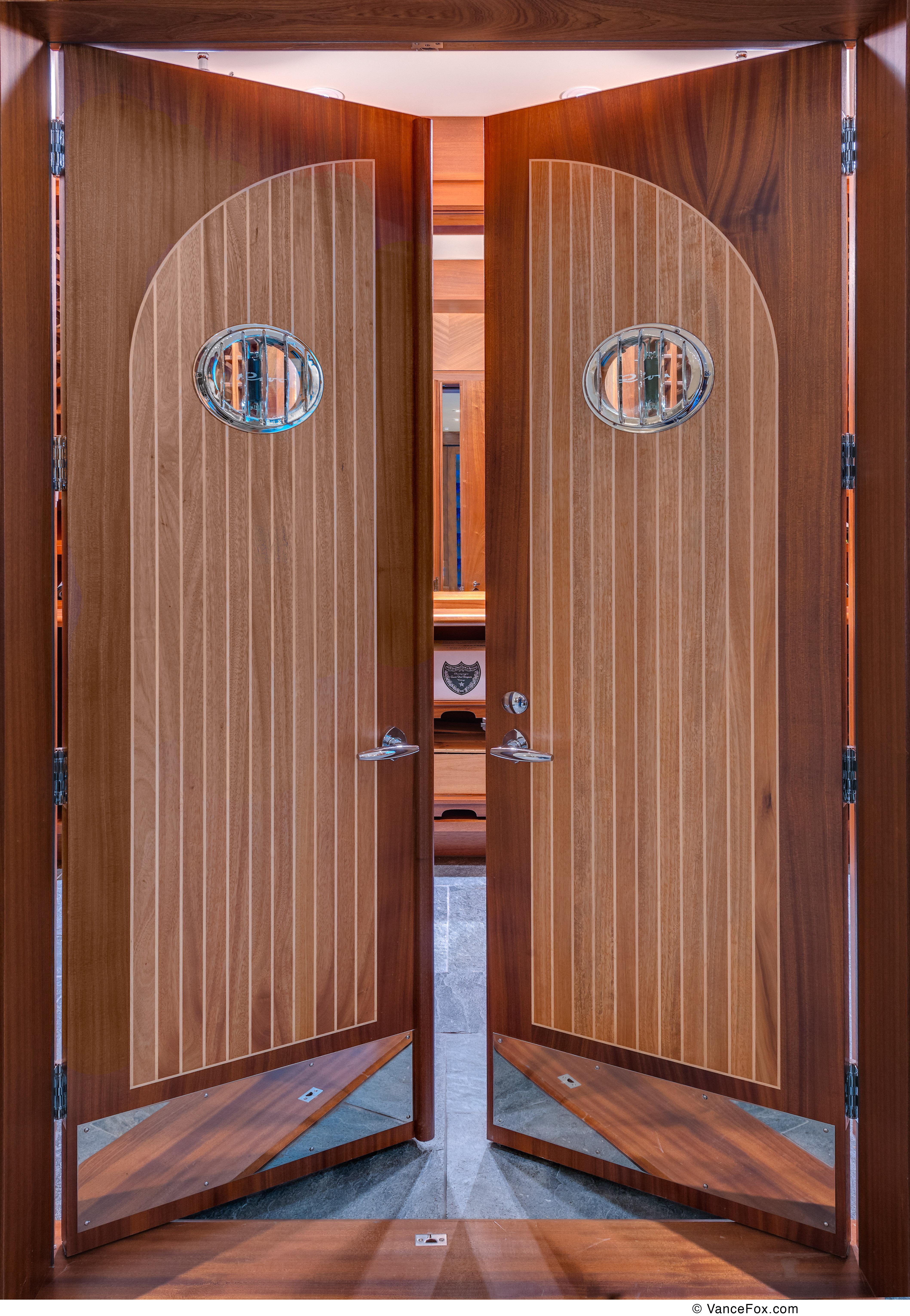 RIVA WINE ROOM CUSTOM DOORS