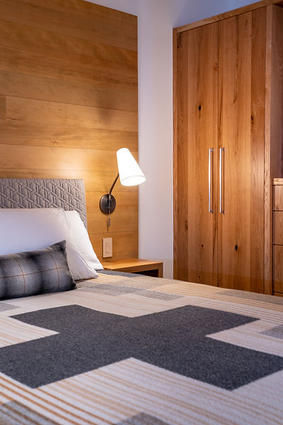 mountain modern, bedroom, Pendleton, Tahoe interior design, Tahoe, custom cabinetry