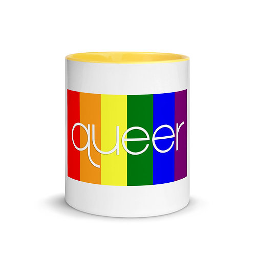 Rainbow Swag Mug with Color Inside