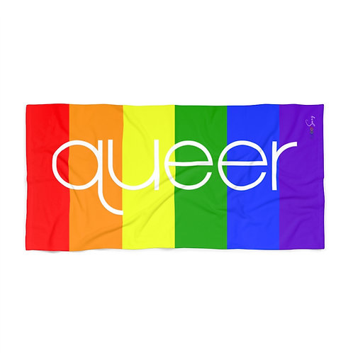 Rainbow Queer Beach Towel