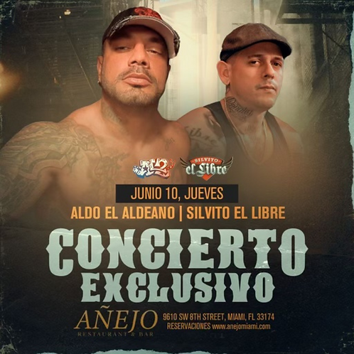 AL2 Y SILVITO VIP TABLE 6 PEOPLE (RESERVATION 9:00PM)