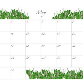 2021年カレンダー5月 A4ヨコ