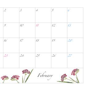 2021年カレンダー2月 A4ヨコ