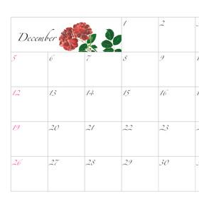 2021年カレンダー12月 A4ヨコ