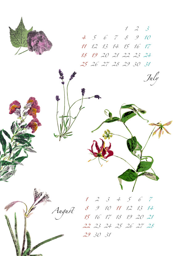 2021 B5フォト和紙カレンダー7・8月