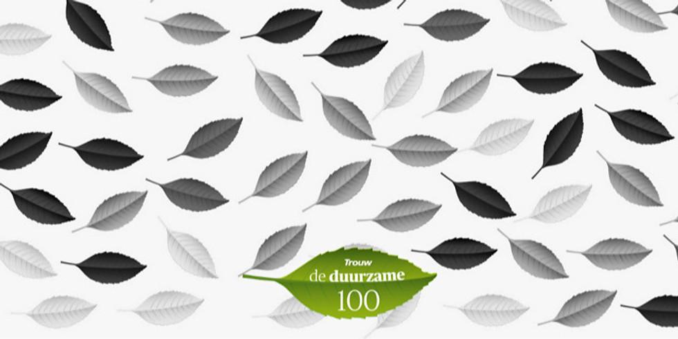 Bekendmaking top 25 van de Trouw Duurzame 100